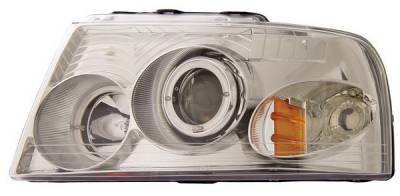 Headlights & Tail Lights - Headlights - Anzo - Ford Expedition Anzo Projector Headlights - with Halo Chrome - 111025