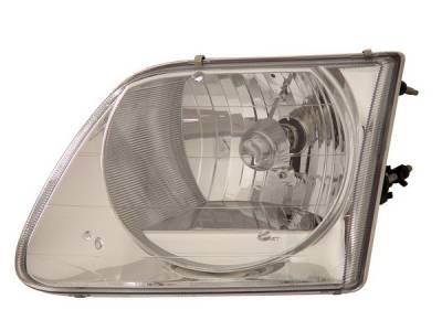 Headlights & Tail Lights - Headlights - Anzo - Ford F150 Anzo Headlights - Crystal & Chrome - 111030
