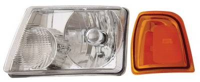 Headlights & Tail Lights - Headlights - Anzo - Ford Ranger Anzo Headlights - Crystal & Chrome - 111035
