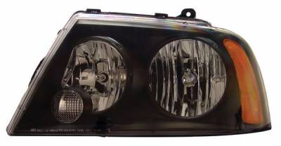 Headlights & Tail Lights - Headlights - Anzo - Lincoln Navigator Anzo Headlights - Black - 111045
