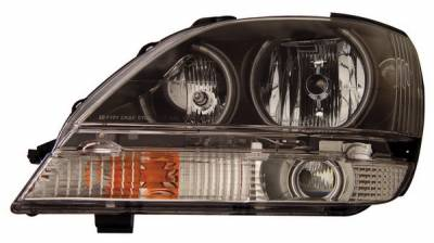 Headlights & Tail Lights - Headlights - Anzo - Lexus RX300 Anzo Headlights - with Halo - CCFL - Iron Gray - 111047