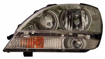 Headlights & Tail Lights - Headlights - Anzo - Lexus RX300 Anzo Headlights - with Halo - CCFL - Chrome - 111048