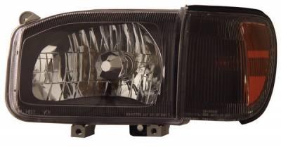 Headlights & Tail Lights - Headlights - Anzo - Nissan Pathfinder Anzo Headlights - Crystal & Black - 111051