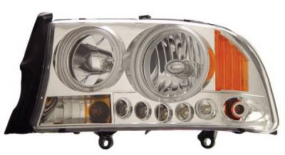 Headlights & Tail Lights - Headlights - Anzo - Dodge Durango Anzo Headlights - Crystal Clear Chrome with Amber Reflectors - 1PC - 111059