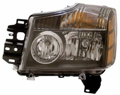 Headlights & Tail Lights - Headlights - Anzo - Nissan Titan Anzo Headlights - Black with Amber Reflectors - 111069