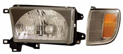 Headlights & Tail Lights - Headlights - Anzo - Toyota 4Runner Anzo Headlights - Black with Amber Reflectors - 111077