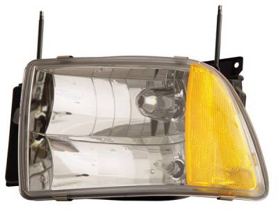 Headlights & Tail Lights - Headlights - Anzo - Chevrolet Blazer Anzo Headlights - Crystal & Clear with Amber Reflectors - 111078