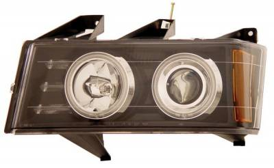 Headlights & Tail Lights - Headlights - Anzo - GMC Canyon Anzo Projector Headlights - Black & Clear Halo with CCFL - 111079