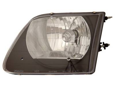 Headlights & Tail Lights - Headlights - Anzo - Ford F150 Anzo Headlights - Black - 111083
