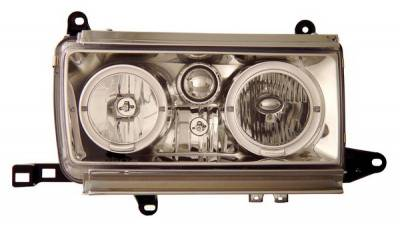 Headlights & Tail Lights - Headlights - Anzo - Toyota Land Cruiser Anzo Headlights - Crystal with Halo - 111092