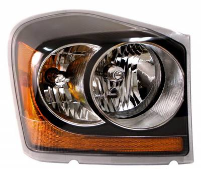 Headlights & Tail Lights - Headlights - Anzo - Dodge Durango Anzo Headlights - Black with Amber Reflectors - 111110