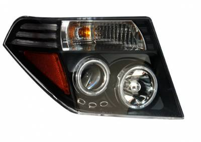 Headlights & Tail Lights - Headlights - Anzo - Nissan Frontier Anzo Projector Headlights - Black & Clear with Amber - 111111
