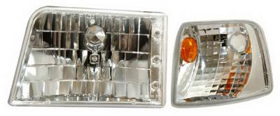 Headlights & Tail Lights - Headlights - Anzo - Ford Ranger Anzo Headlights - Clear with Amber Corners - 111119