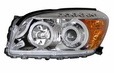Headlights & Tail Lights - Headlights - Anzo - Toyota Rav 4 Anzo Projector Headlights - Chrome & Clear Amber - CCFL - 111121