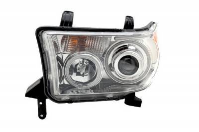 Headlights & Tail Lights - Headlights - Anzo - Toyota Sequoia Anzo Projector Headlights - Chrome with Halos - CCFL - 111130