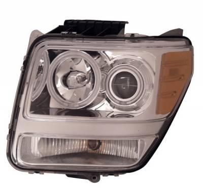 Headlights & Tail Lights - Headlights - Anzo - Dodge Nitro Anzo Projector Headlights - Halo Chrome & Clear Amber- CCFL - 111139