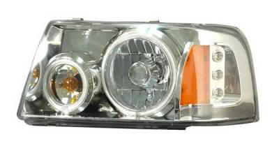 Headlights & Tail Lights - Headlights - Anzo - Ford Ranger Anzo Projector Headlights - Halo Chrome Clear Amber - CCFL - 1PC - 111151