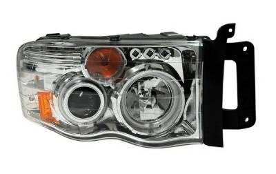 Headlights & Tail Lights - Headlights - Anzo - Dodge Ram Anzo Projector Headlights - G2 with Halo CCFL - Chrome - 111165