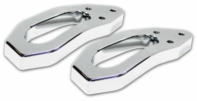 Pro-One - Pro-One Smooth Chrome Billet Tow Hooks - F00002SC