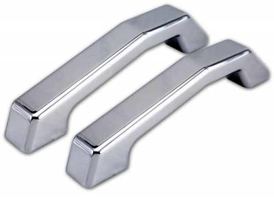 Pro-One - Pro-One Smooth Chrome Billet Hood Handles - Pair - H20001SC