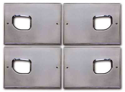 Pro-One - Pro-One Smooth Chrome Billet Interior Door Handle Backing Plate Set - H20003SC