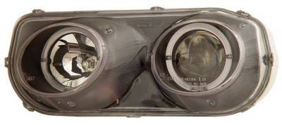Headlights & Tail Lights - Headlights - Anzo - Acura Integra Anzo Projector Headlights - with Halo Black - 121003
