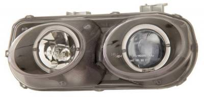 Headlights & Tail Lights - Headlights - Anzo - Acura Integra Anzo Projector Headlights - with Halo Black - 121005