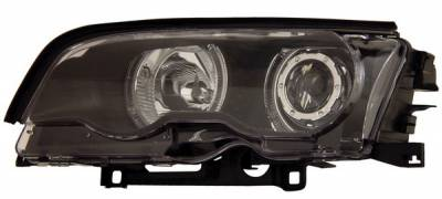 Headlights & Tail Lights - Headlights - Anzo - BMW 3 Series 2DR Anzo Projector Headlights - with Halo Black - 121013