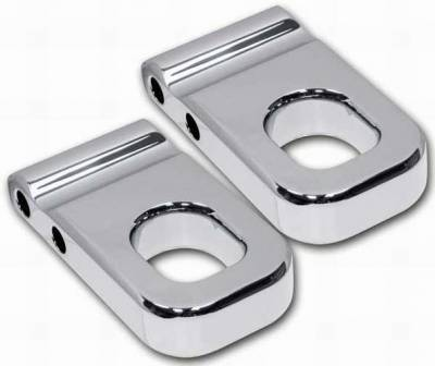 Pro-One - Pro-One Smooth Chrome Billet Front Tow Eyes - Pair - H20010SC