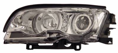 Headlights & Tail Lights - Headlights - Anzo - BMW 3 Series 2DR Anzo Projector Headlights - with Halo Chrome - 121014