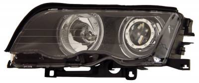Headlights & Tail Lights - Headlights - Anzo - BMW 3 Series 4DR Anzo Projector Headlights - with Halo Black - 121015
