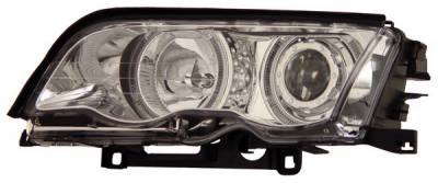 Headlights & Tail Lights - Headlights - Anzo - BMW 3 Series 4DR Anzo Projector Headlights - with Halo Chrome - 121016