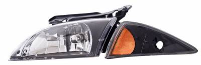 Headlights & Tail Lights - Headlights - Anzo - Chevrolet Cavalier Anzo Headlights - Crystal &Black with Corners - 121019