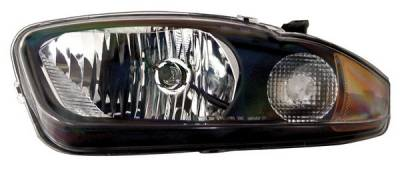 Headlights & Tail Lights - Headlights - Anzo - Chevrolet Cavalier Anzo Headlights - Crystal & Black - 121020