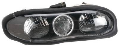 Headlights & Tail Lights - Headlights - Anzo - Chevrolet Camaro Anzo Headlights - with Halo - Black - 121024