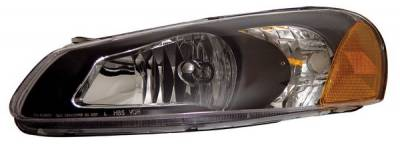 Headlights & Tail Lights - Headlights - Anzo - Chrysler Sebring 4DR Anzo Headlights - Crystal & Black - 121026