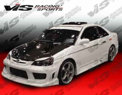 Civic 2Dr - Body Kits - VIS Racing - Honda Civic 2DR VIS Racing Striker Full Body Kit - 99HDCVC2DSTR-099