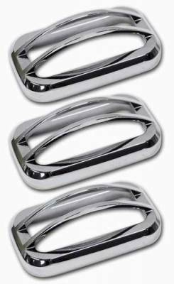 Pro-One - Pro-One Smooth Chrome Billet Upper Marker Light Covers with Cage - Set - H20040SC