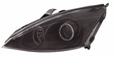 Headlights & Tail Lights - Headlights - Anzo - Ford Focus Anzo Projector Headlights - with Halo Black - 121044