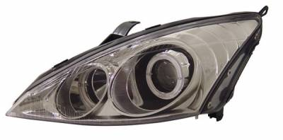 Headlights & Tail Lights - Headlights - Anzo - Ford Focus Anzo Projector Headlights - with Halo Chrome - 121045