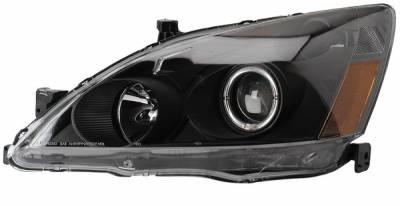 Headlights & Tail Lights - Headlights - Anzo - Honda Accord Anzo Projector Headlights - with Halo Black - 121046
