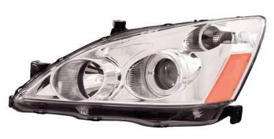 Headlights & Tail Lights - Headlights - Anzo - Honda Accord Anzo Projector Headlights - with Halo Chrome - 121047