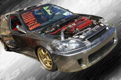 Civic 2Dr - Body Kits - VIS Racing - Honda Civic 2DR & 4DR VIS Racing Walker Full Body Kit - 99HDCVC2DWAL-099