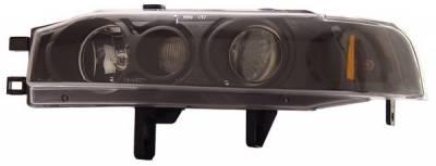 Headlights & Tail Lights - Headlights - Anzo - Honda Accord Anzo Projector Headlights - with Halo Black - 1PC - 121048