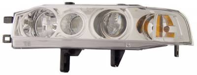 Headlights & Tail Lights - Headlights - Anzo - Honda Accord Anzo Projector Headlights - with Halo Chrome - 1PC - 121049