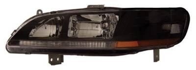 Headlights & Tail Lights - Headlights - Anzo - Honda Accord Anzo Headlights - Crystal & Black - 121052