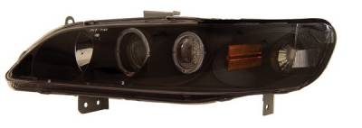 Headlights & Tail Lights - Headlights - Anzo - Honda Accord Anzo Projector Headlights - with Halo Black - 121053