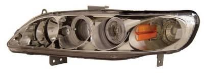 Headlights & Tail Lights - Headlights - Anzo - Honda Accord Anzo Projector Headlights - with Halo Chrome - 121054