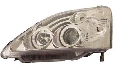 Headlights & Tail Lights - Headlights - Anzo - Honda Civic HB Anzo Projector Headlights - with Halo Chrome - 121058