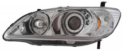 Headlights & Tail Lights - Headlights - Anzo - Honda Civic 2DR & 4DR Anzo Projector Headlights - with Halo Chrome - 121060